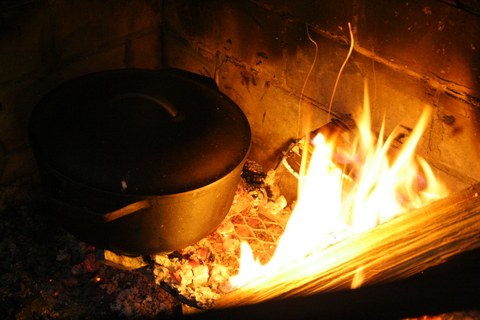 Cast Iron on fire